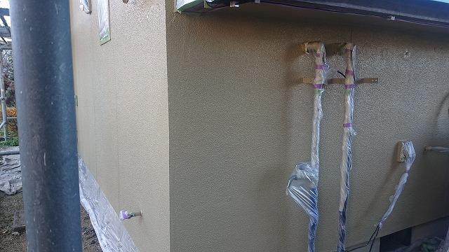 飯田市下久堅外壁塗装上塗り3