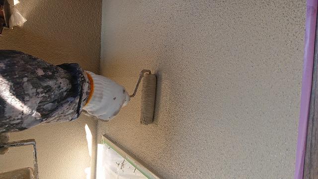 飯田市下久堅外壁塗装上塗り4