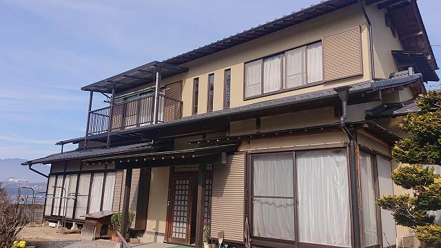 飯田市下久堅 和風住宅外壁塗装完成1
