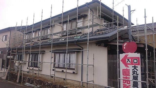 下伊那郡松川町 瓦屋根の吹き替え工事 がスタートしました!