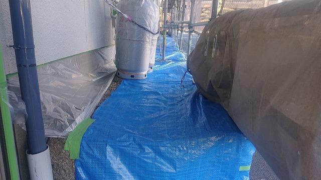 松川町外壁塗装養生2