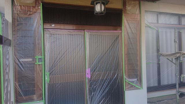松川町外壁塗装養生3