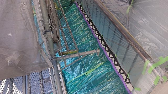 松川町外壁塗装養生4