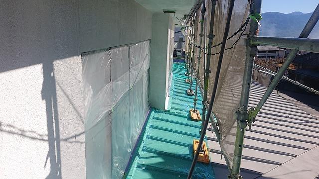 松川町外壁塗装養生5