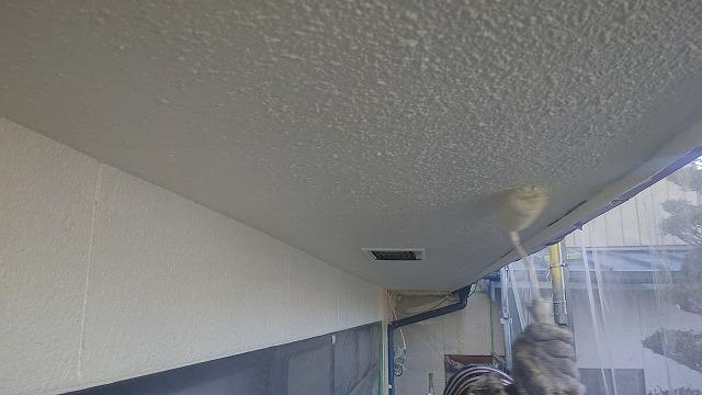 松川町外壁塗装上塗り2