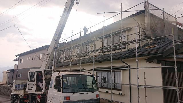 松川町屋根葺き替え1