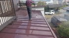 飯田市北方 トタン屋根洗浄5