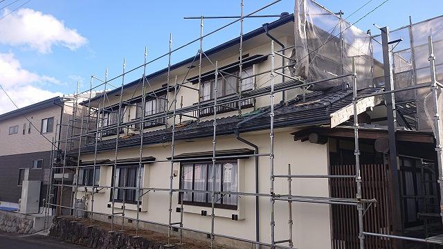 松川町外壁塗装上塗り7