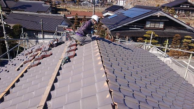 松川町屋根葺き替え7