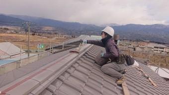 松川町瓦葺き替え棟工事5