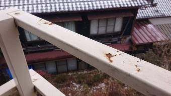 飯田市大瀬木柿ハウス下塗り1