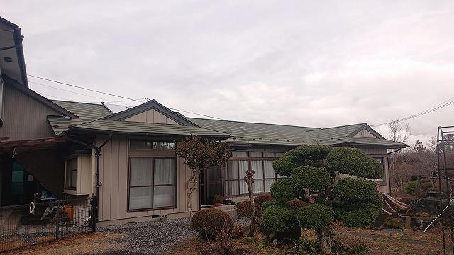 中川村トタン屋根塗装現調1