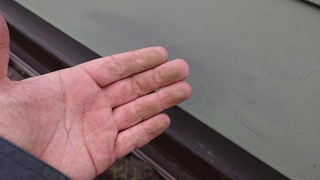 中川村トタン屋根塗装現調6
