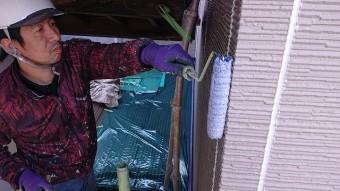 松川町外壁屋根塗装下塗り2