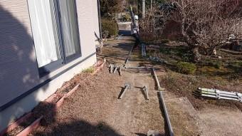 松川町外壁とトタン屋根塗装足場3