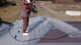 松川町外壁屋根塗装洗浄3