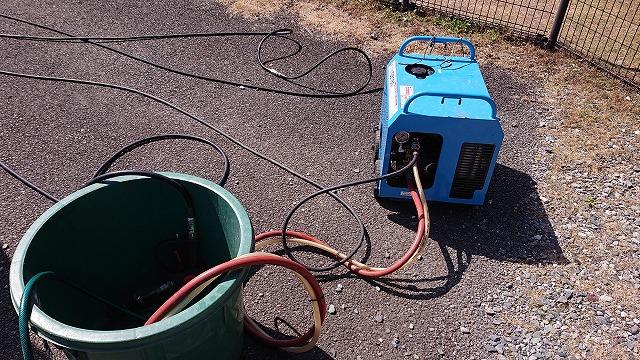中川村トタン屋根塗装洗浄7