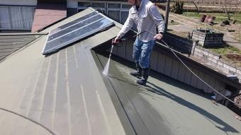 中川村トタン屋根塗装洗浄3