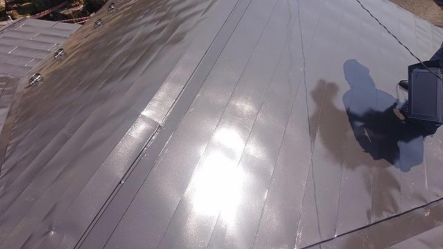 中川村トタン屋根塗装上塗り3