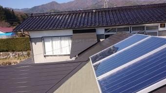 中川村トタン屋根塗装下塗り3