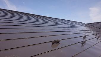 中川村トタン屋根塗装下塗り4