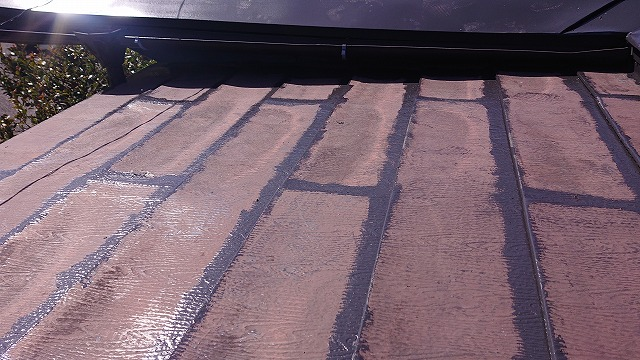 中川村トタン屋根塗装下塗り6