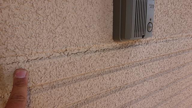 松川町サンワ外壁塗装現状2