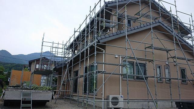 松川町サンワ外壁塗装足場3