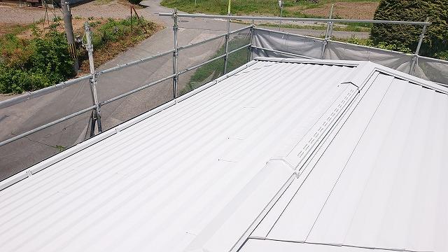 飯田市龍江屋根塗装上塗り2