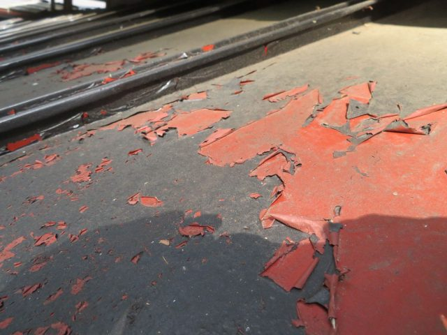 下條屋根塗装_塗装剥がれ