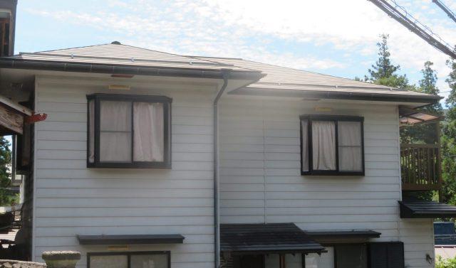 下伊那郡阿南町にて【遮熱塗料】を使って屋根塗装工事を行います-1