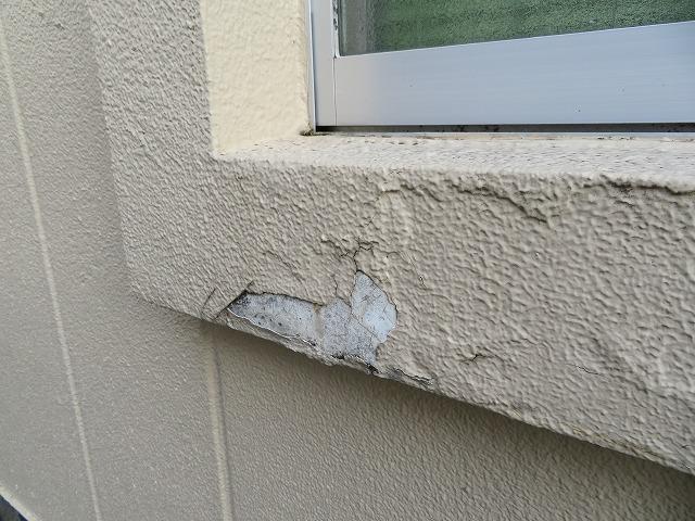 モルタル外壁の剥離です