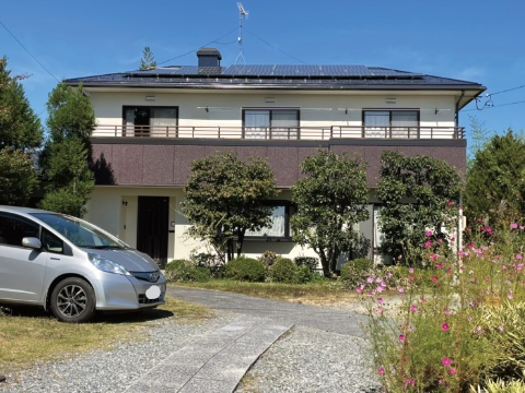 下伊那郡松川町 M様邸にて外壁屋根塗装工事を行いました