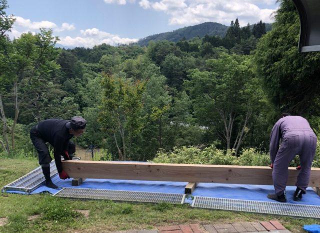 下伊那郡下條村にて渡廊下設置工事を行いました。―2