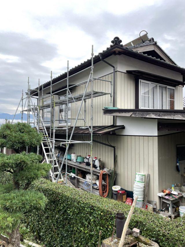 高森町屋根塗装足場