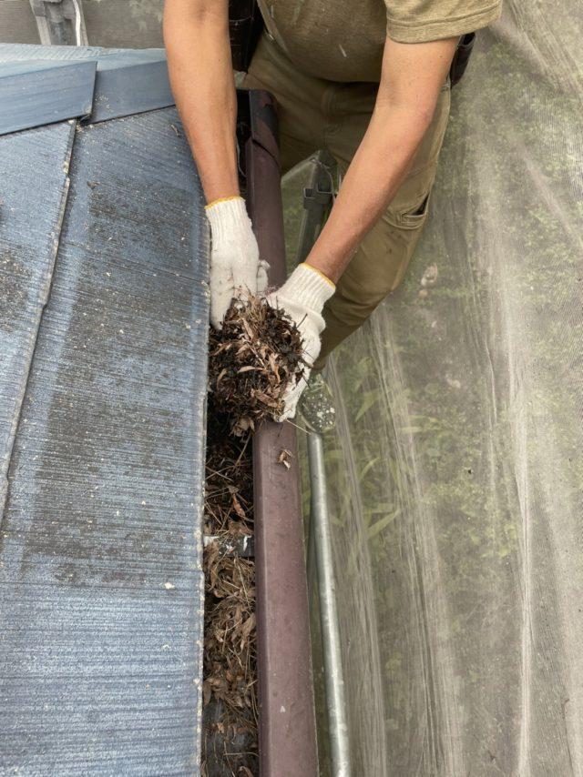 松川町外壁屋根塗装雨樋掃除