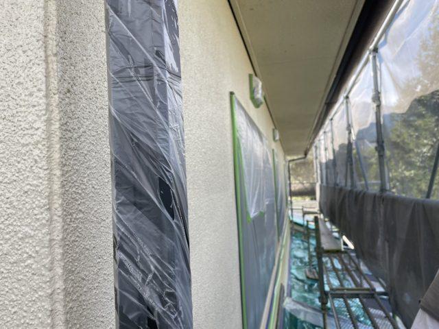 松川町外壁屋根塗装養生