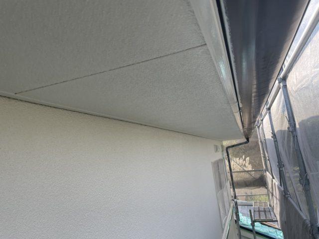 松川町外壁屋根塗装上塗り