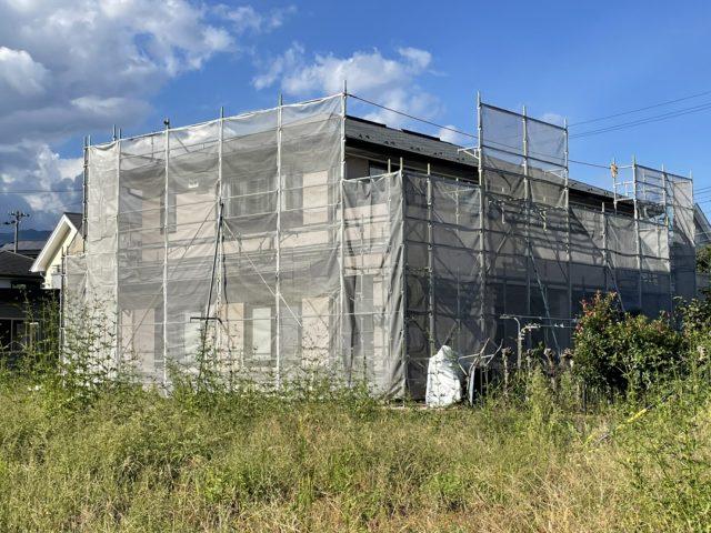 飯田市屋根塗装足場