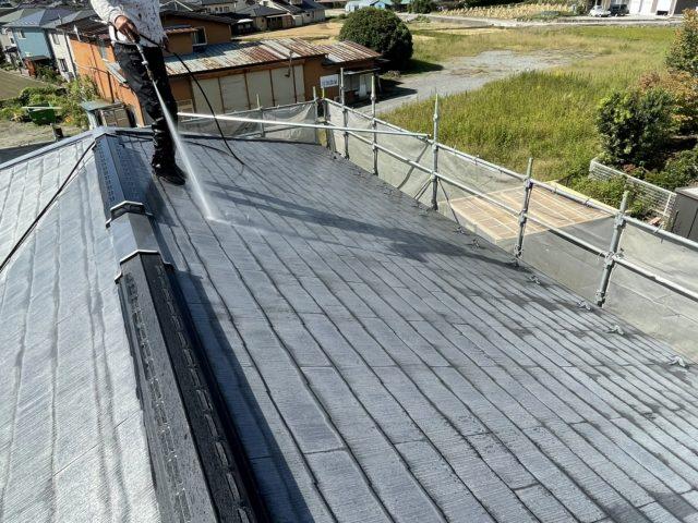 飯田市屋根塗装水洗い