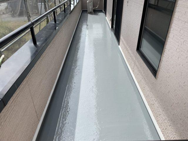 飯田市屋根塗装_ベランダ防水2