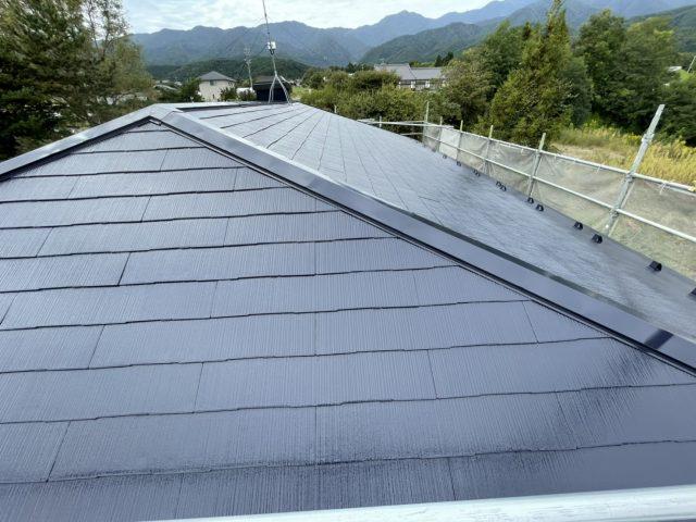 松川町外壁屋根塗装完成