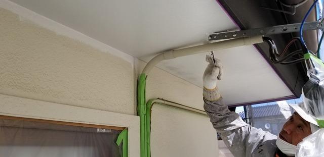 軒天塗装です