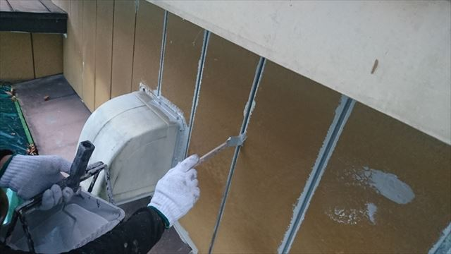 駒ヶ根市金属外壁下塗り5