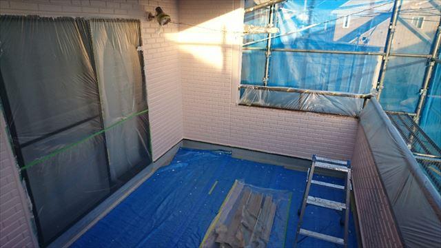 松本市ALC外壁中塗り2