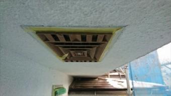 塩尻市屋根カバー外壁塗装養生4