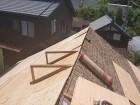 飯島町蔵屋根ボード張り2