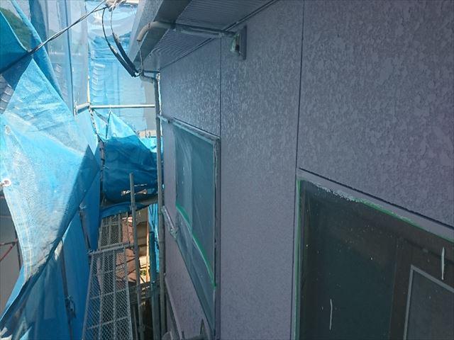喬木村屋根外壁壁中塗り6