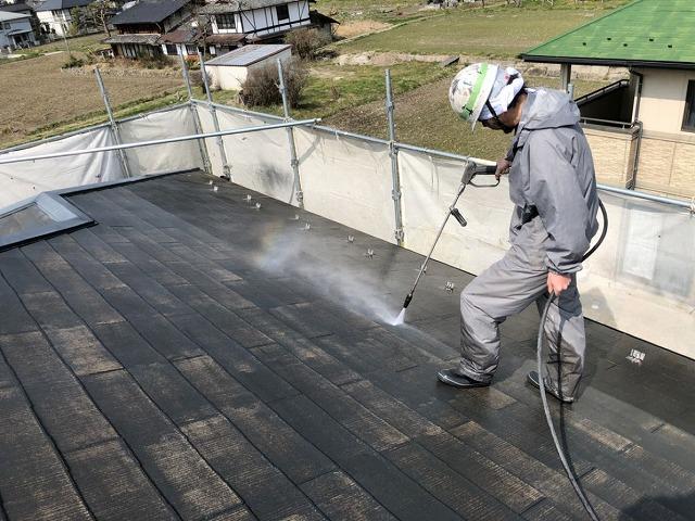 除菌高圧洗浄をしました