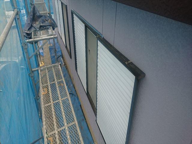 喬木村屋根外壁塗装外壁上塗り1